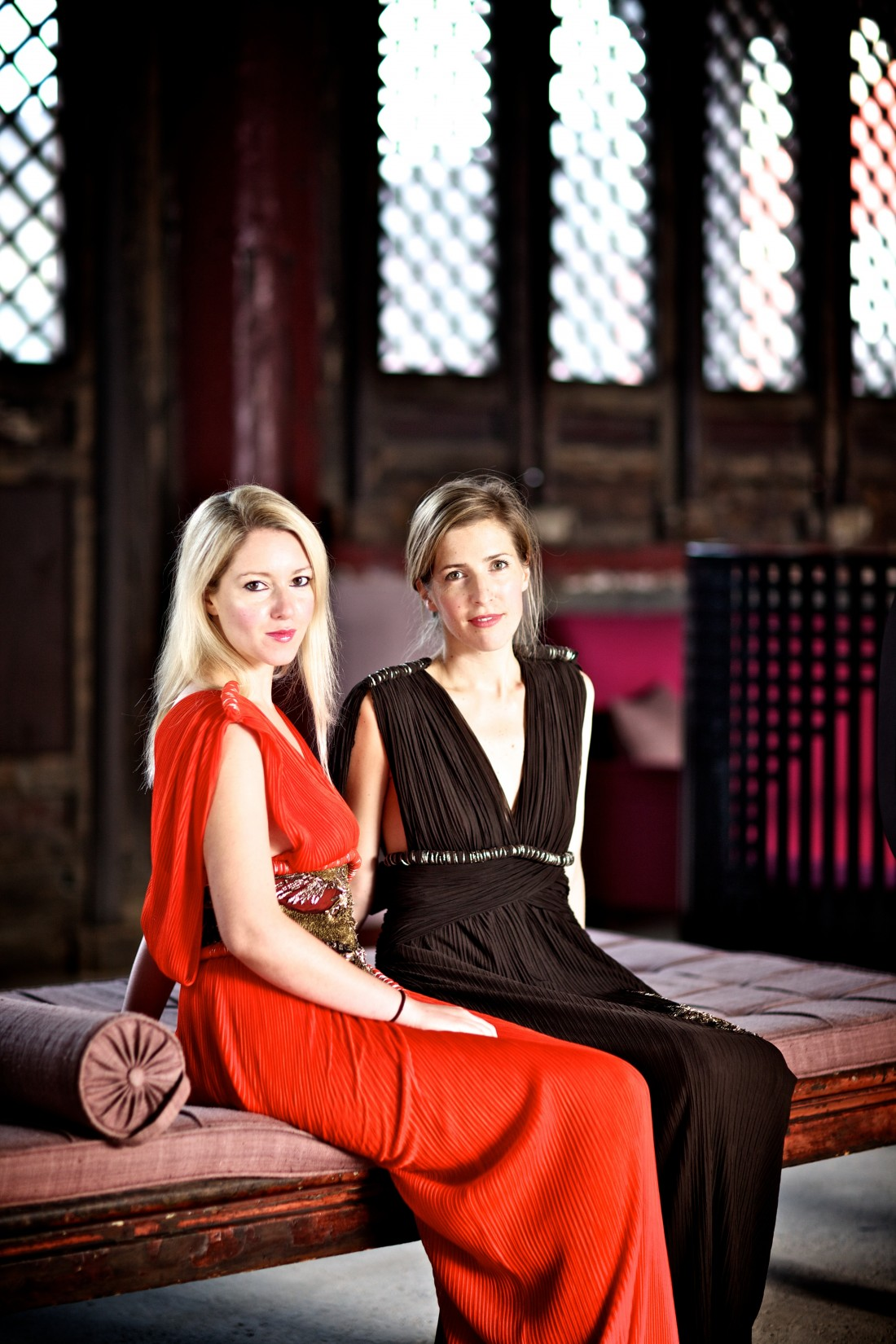 The violin duo, Retorica, perform at Lancaster University's Great Hall on 6 March 2014.