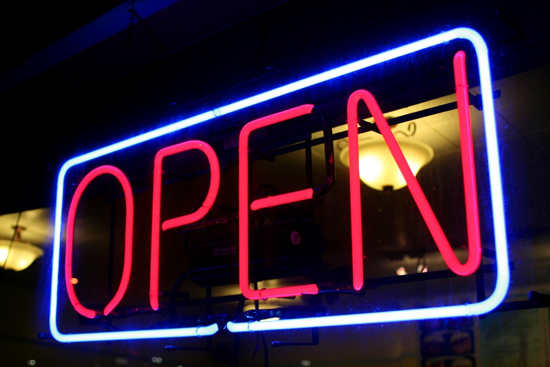 Open - Neon Sign