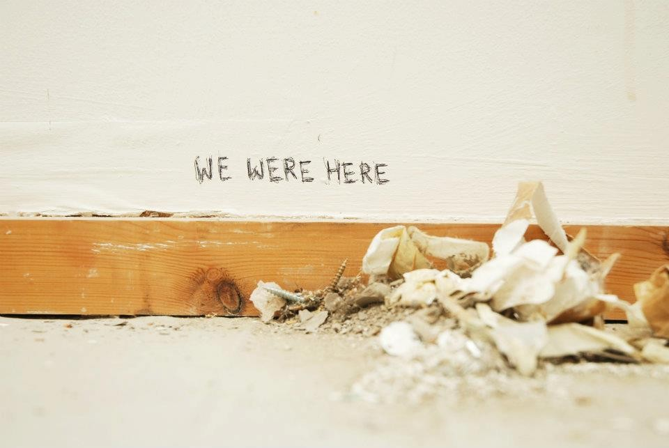 Image for the LU BA Fine Art Degree Show ' We Were Here' 2012