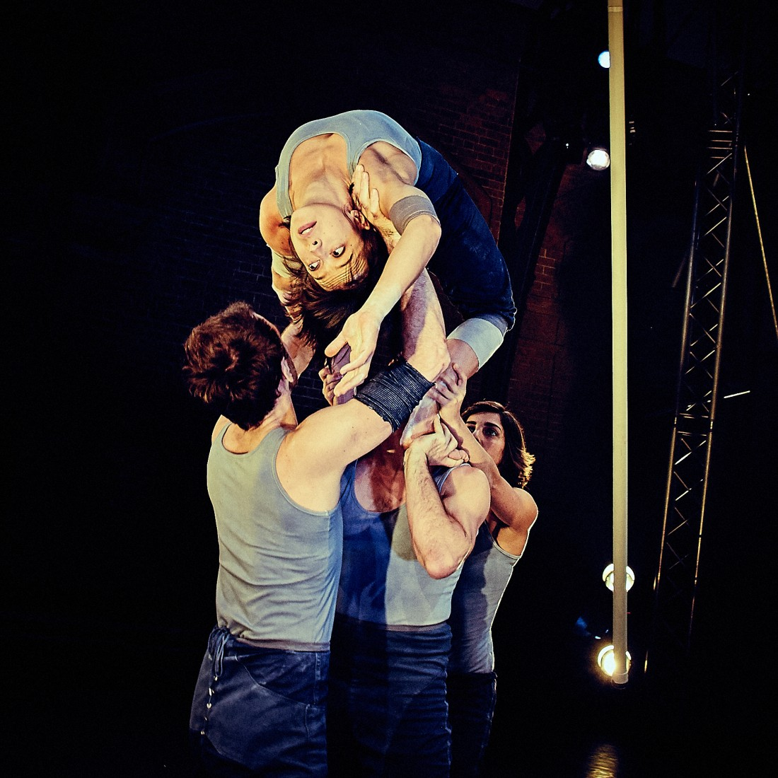 Ockham's Razor present their latest aerial theatre production 'Tipping Point' at the Nuffield Theatre, Lancaster University between 1-3 November 2016.