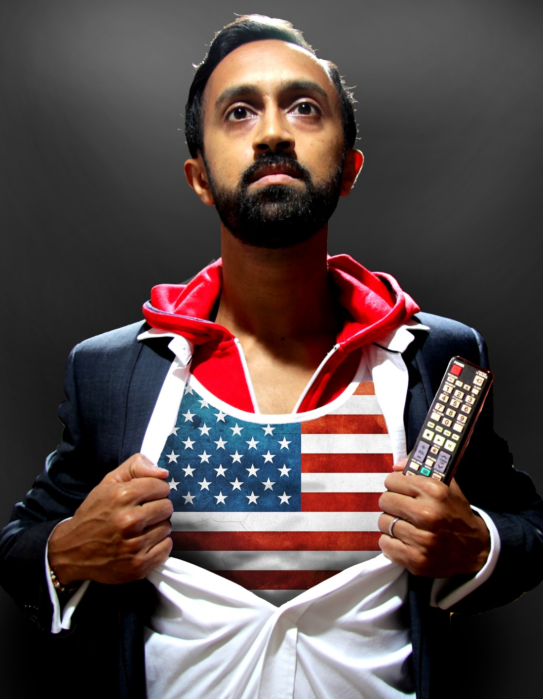 Preview of 'American Boy' by Hetain Patel. Thursday 8th May 2014. LICA Building, Lancaster.