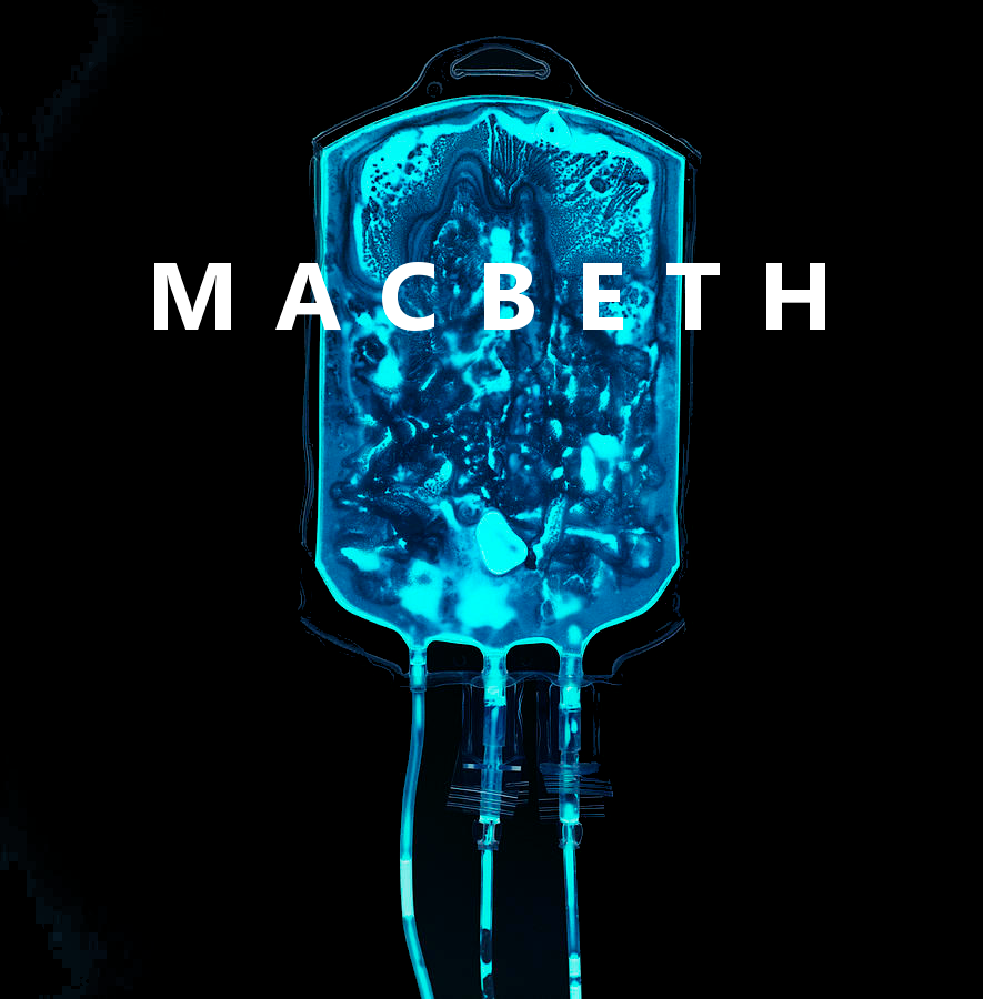 Poster artwork for Lancaster University Theatre Group's Production of Macbeth in December 2017