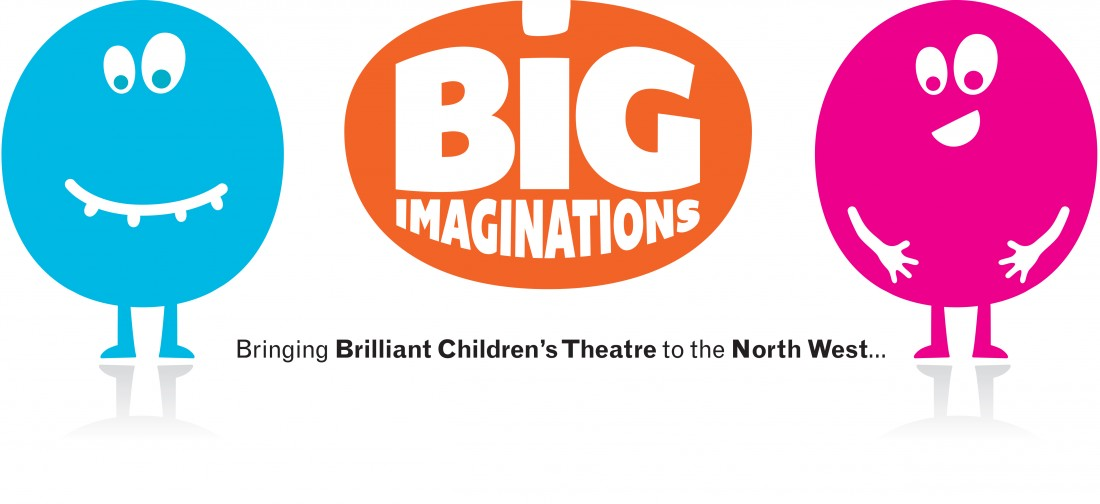 Big Imaginations Logo (Blue, Orange, Magenta)