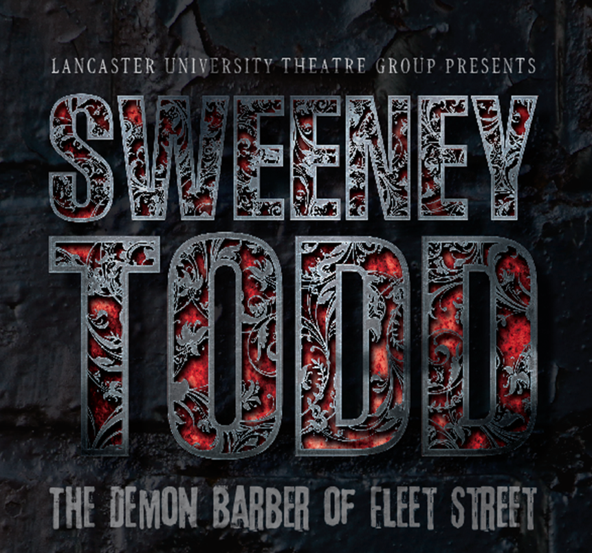 Lancaster University Theatre Group, Sweeney Todd Logo. 2013