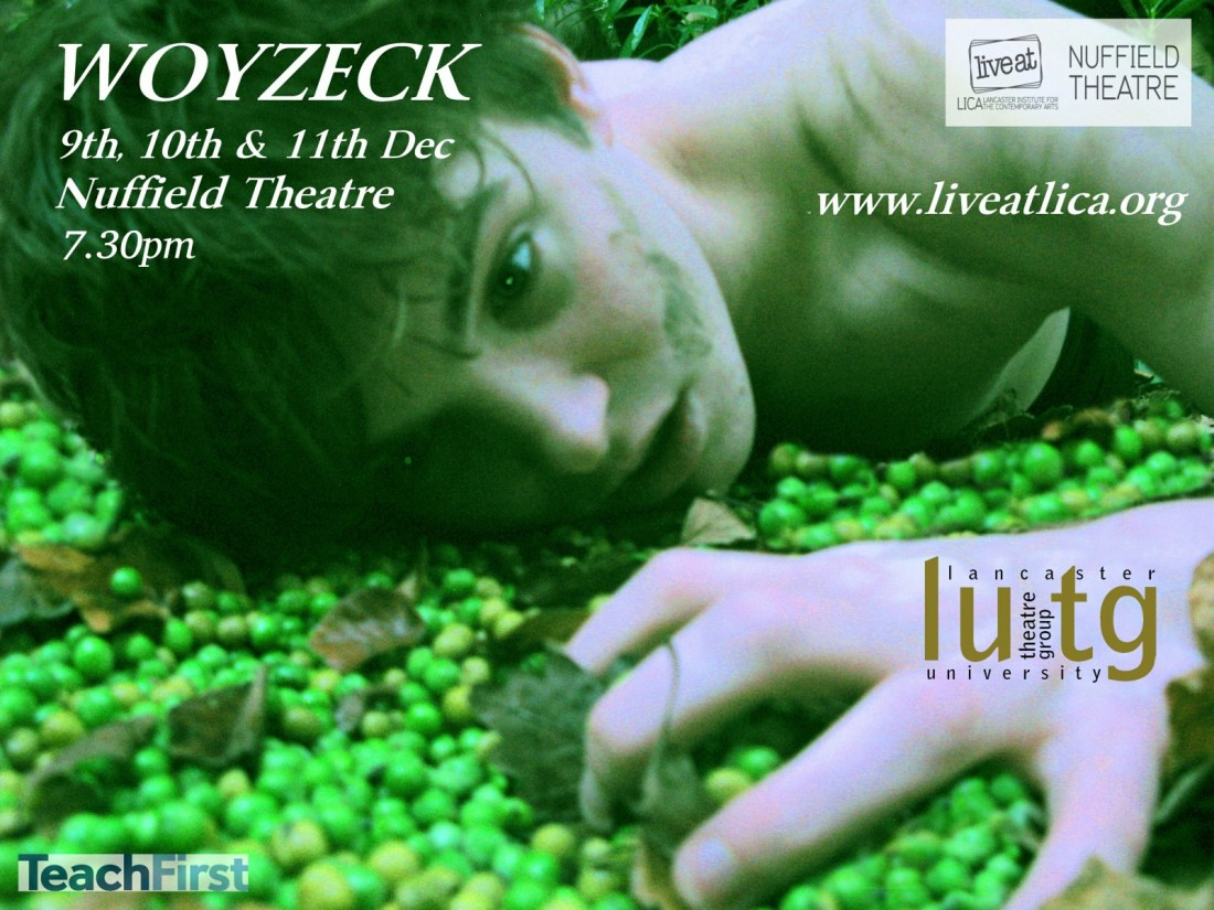 Updated Woyzeck Poster Image from Lancaster University Theatre Group