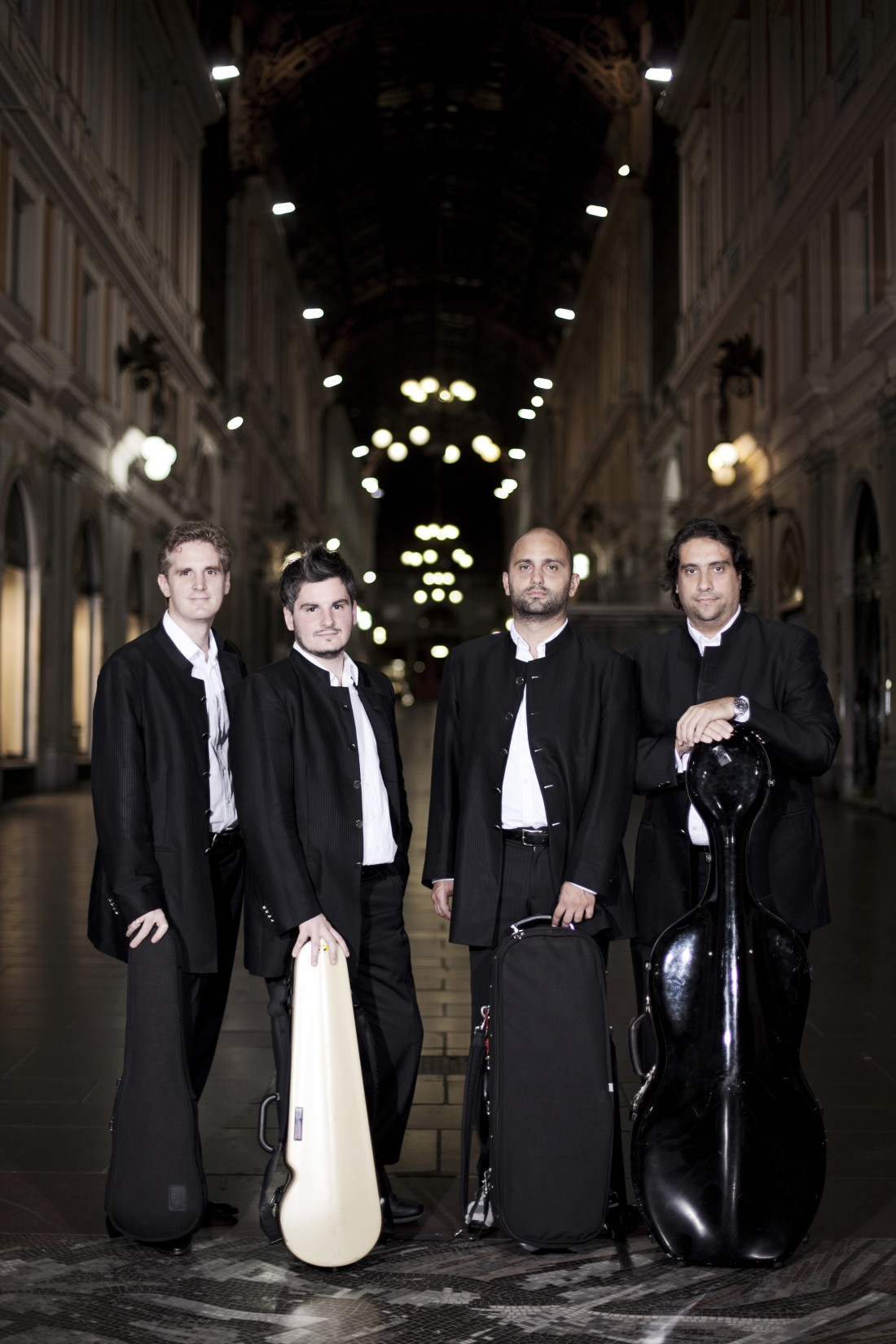 Quartetto di Cremona perform at Lancaster University's Great Hall on 6 February 2014.