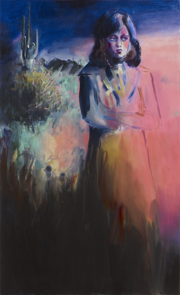 Lindsey Bull Pink Lady oil on canvas, 135 x 82, 2018