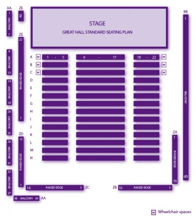 2014/15 Concerts Standard Seating Plan