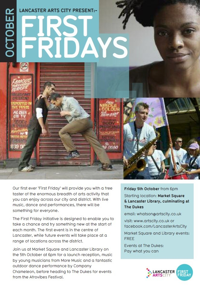 First Fridays promo leaflet