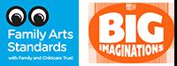 Family Arts Standard & Big Imaginations Logos