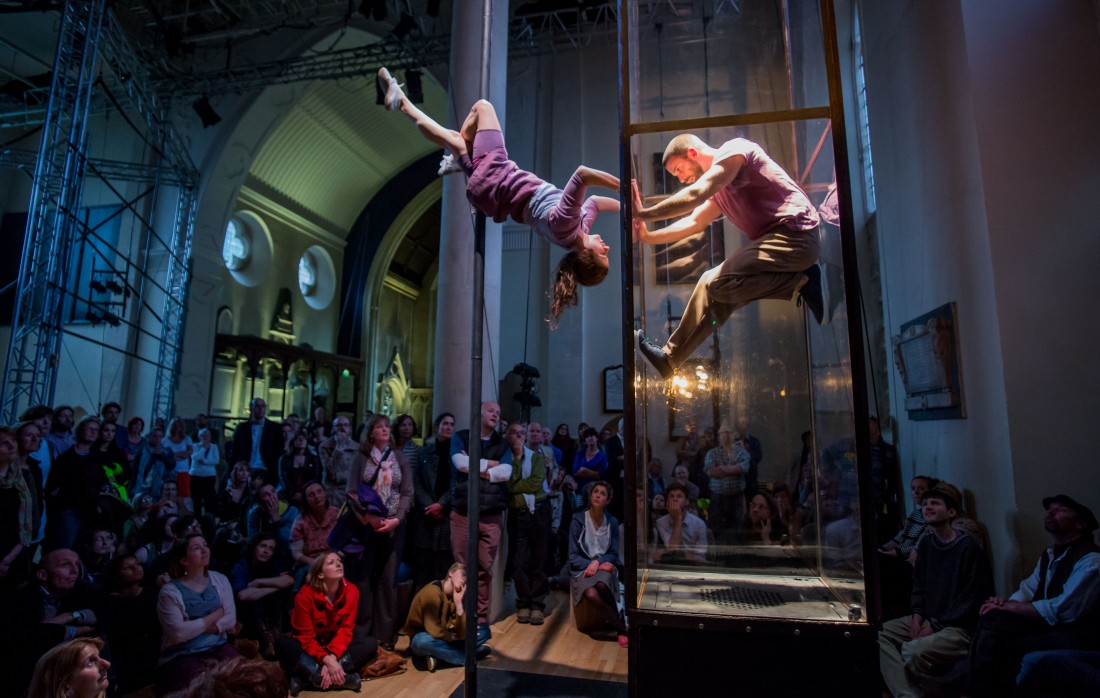 A unique opportunity to see contemporary dance/aerial theatre on campus and 'In the City' courtesy of Ockham's Razor and in both cases it won't cost you a penny!