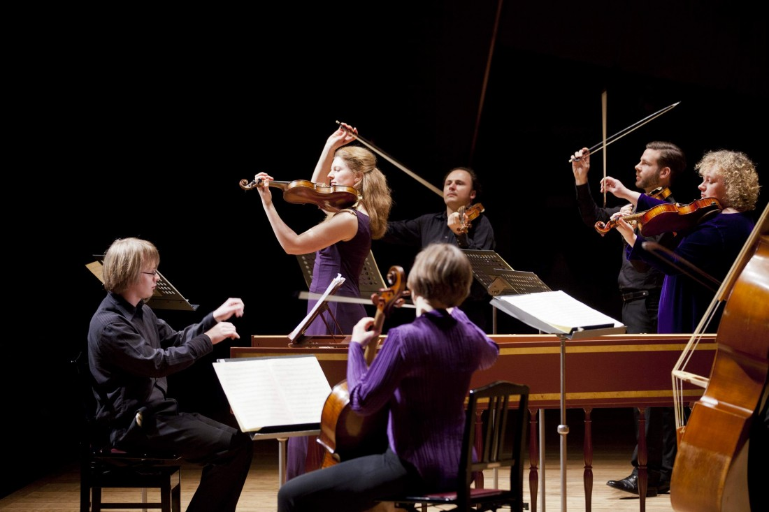 The Brecon Baroque ensemble perform on 13 March 2014 at Lancaster University's Great Hall.