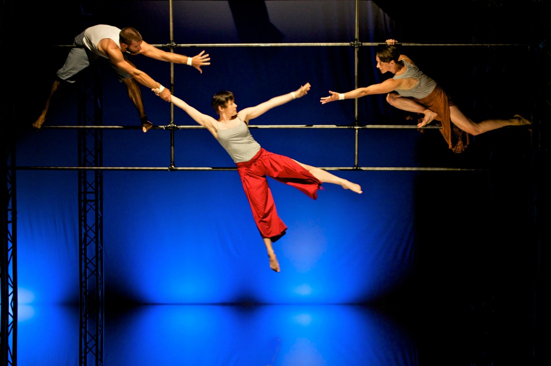 Aerial theatre by Ockhams Razor (Not Until We are Lost). 20-24 October 2012. Nuffield Theatre, Lancaster.