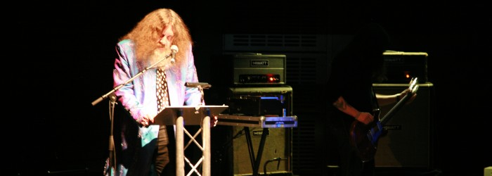Alan Moore, <em>English Journey Revisited</em>, 2010. Photo: Louise Hepworth. Courtesy of AV Festival 08.