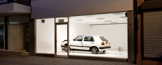 Jonathan Schipper, <em>Slow Motion Car Crash</em>, 2012. Photo: Colin Davison. Courtesy of AV Festival 12.